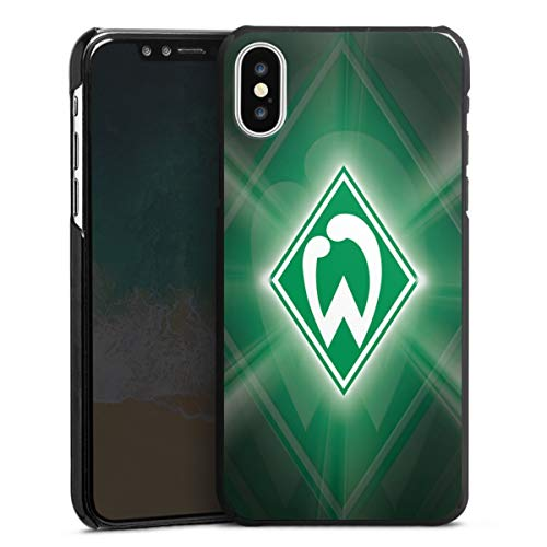 DeinDesign Hard Case kompatibel mit Apple iPhone X Schutzhülle schwarz Smartphone Backcover SV Werder Bremen Offizielles Lizenzprodukt Wappen