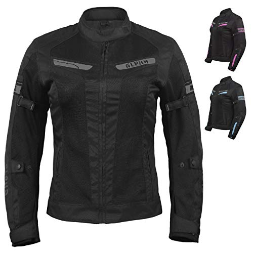 ACG LADIES ESCAPE MESH MOTORCYCLE JACKET (BLACK, SMALL)