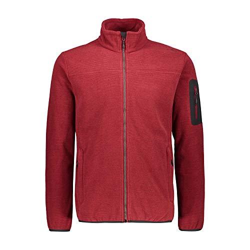 CMP – F.LLI Campagnolo Herren Strickfleecejacke Jacquard Knitted Fleece Jacket, Merlot, 50