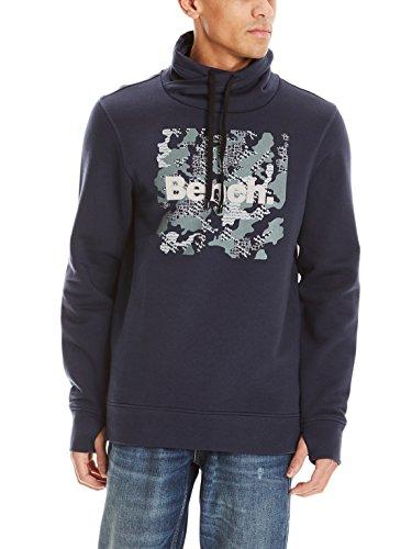 Bench Herren Sweat HIGH Neck Sweatshirt, Blau (Dark Navy Blue Ny031), X-Large