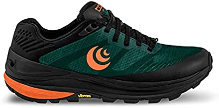 Topo Athletic Men's Ultraventure Pro Comfortable Lightweight 5MM Drop Trail Running Shoes, Athletic Shoes for Trail Running, Forest/Orange, Size 11.5