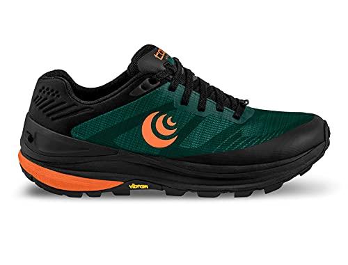 Topo Athletic Ultraventure Pro - Scarpe da corsa da uomo, comode, leggere, 5 mm, Foresta/Arancione, 47 EU