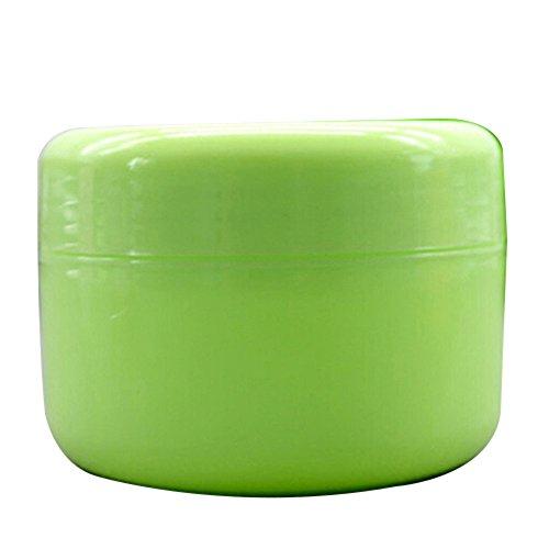 Leere Make-up-Behälter für Cremes, Cremes, Lotion, Kosmetikbehälter, 5 Stück Gr. 100 g, grün