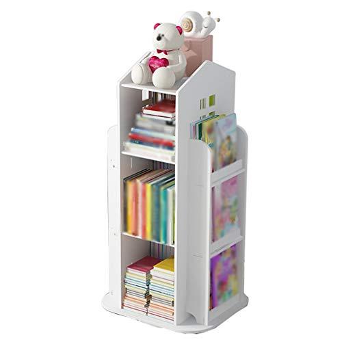 YHRJ Librerie per Bambini songmics Libreria Semplice, Scaffale per Bambini del Fumetto Domestico, Scaffale per Giocattoli per Asilo Nido, Cremagliera Rotante per casetta