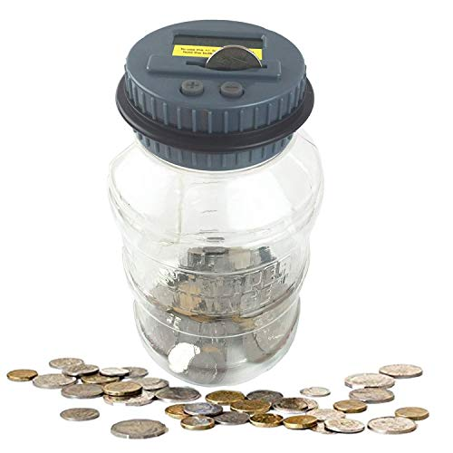 Digital Coin Bank Savings Jar Automatic Counting Money Box for Kids
