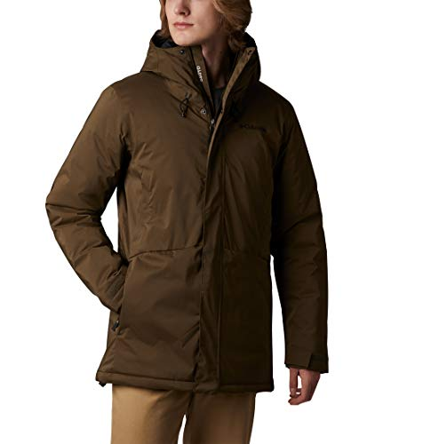 Columbia Northbounder Turbodown Parka, Hombre, Verde (Olive Green Heather), S