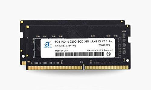 Adamanta 16 GB (2 x 8 GB) Speicher-Upgrade kompatibel für 2017 Apple iMac 68,6 cm/21,5 Zoll Retina 5K/4K oder non-Retina Display DDR4 2400 MHz PC4-19200 SODIMM 1Rx8 CL17 1,2 V Single Rank RAM DRAM
