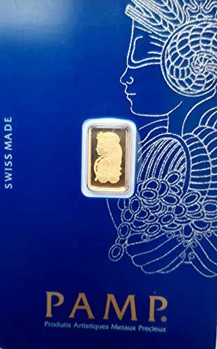 1 Gramm Gold 1 gr Goldbarren Barren Feingold 999,9 Pamp Suisse Siegesgöttin