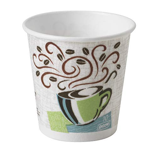 Dixie PerfecTouch 10 oz. Insulated Paper Hot Coffee Cup by GP PRO (Georgia-Pacific), Coffee Haze, 92959, 1,000 Count (50 Cups Per Sleeve, 20 Sleeves Per Case), Coffee Haze Design