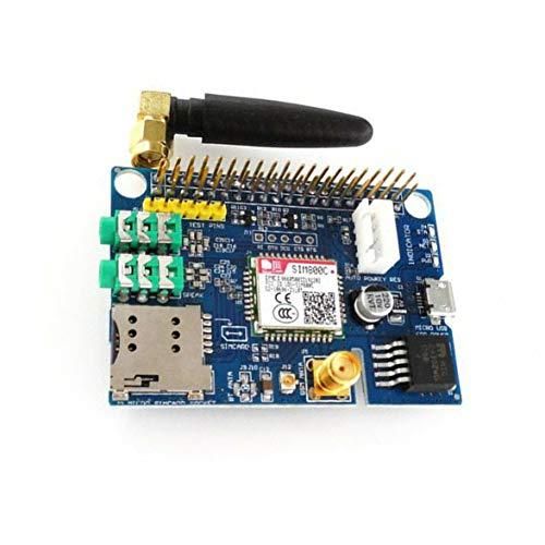 Sylvialuca Kleines SIM800C GSM GPRS-Modul Quad-Band-Entwicklungsplatinenmodul Geeignet für Raspberry Pi