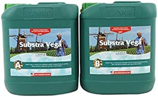 CANNA Substra Vega Hard Water A and B Nutrients 5 Liters