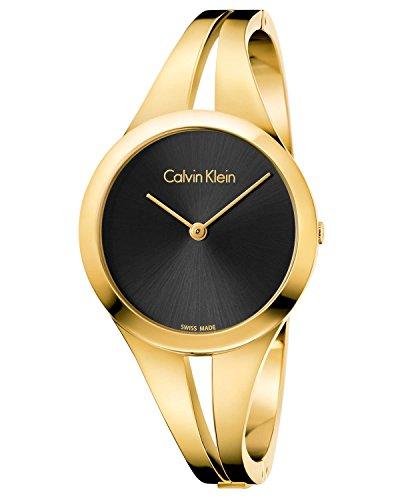 Calvin Klein Damen Analog Quarz Uhr mit Edelstahl Armband K7W2M511
