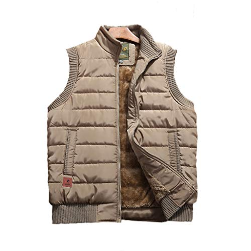 HLD Onderaan en katoenen vest for mannen lente en de herfst vader jas met fleece verdikking midden en ouderdom warm vest for mannen vest met vis for mannen vest Gilets (Color : H, Size : XXXL)