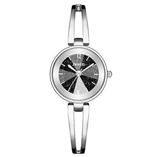 Rosennie Uhr Damen Quarzuhr Edelstahl Armbanduhr Sterne Diamant Einfache Business Uhr Elegant Analog Quarzuhr Armbanduhren Fashion Damen Watches