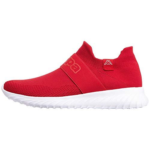Kappa PEC Low Top | Sneakers für Sport & Freizeit | angesagter Kappa-Style für modebewusste Damen & Herren | atmungsaktiv & stabil | hoher Tragekomfort | Rot (2010 Red/White), Größe 43 EU