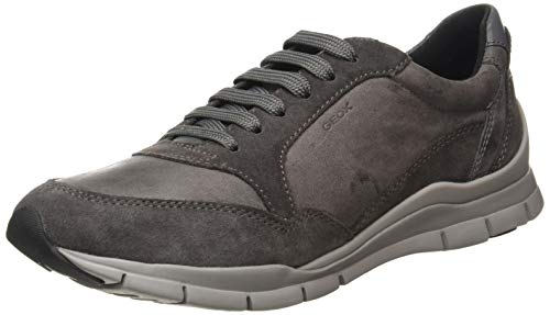Geox Womens D Sukie A Sneaker, Dark Grey,40 EU