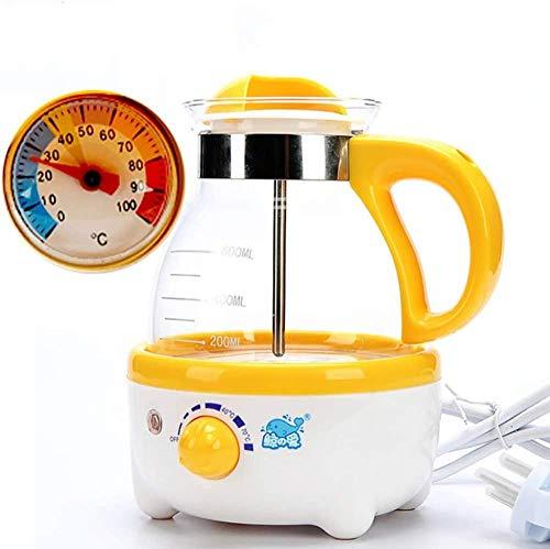 Baby Thermostat Sojabohnenmilchmaschine Multifunktionsmilchpulvermaschine Konstanttemperatur Wasserkocher Milchpulvermaschine Milchtopf (gelb)