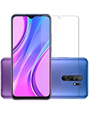 Affix Tempered Glass for Mi Redmi 9 Prime with Easy Self Installation Kit (Transparent) Full Screen Coverage (except edges) - Pack of 1