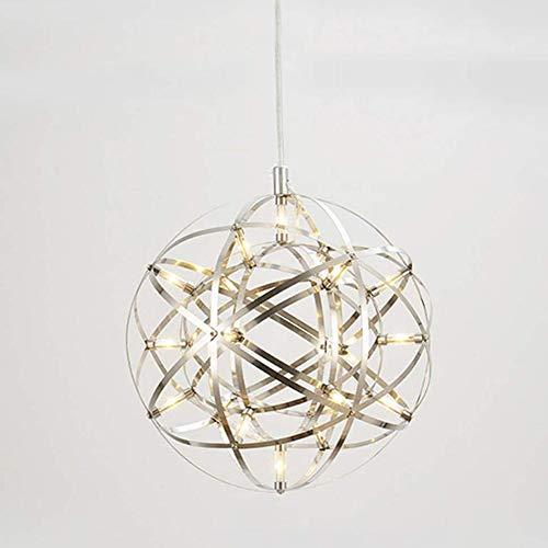 CLX Led plafondlamp moderne woonkamer kroonluchter roestvrij staal warm wit creatieve Industria restaurant winkel woonkamer