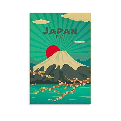 EWRW 15 Japón Retro Vintage viaje cartel pintura sobre lienzo carteles para sala de estar decoración pared cuadro 30 x 45 cm