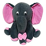 MSFI Soft push Imported Fabric Siting Stuffed Elephant Animals in Grey color Size, Height-28 Centimetre