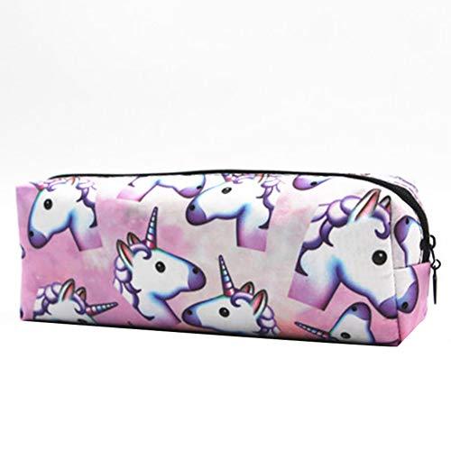 Kanggest.Unicornio Bolsa de Cosméticos Maquillaje para Señoras Perezosas Viaje Bolsas de Aseo con el Lazo de la Bolsa Bolsa de Organizador Almacenamiento de Maquillaje del Bolso para Viaje