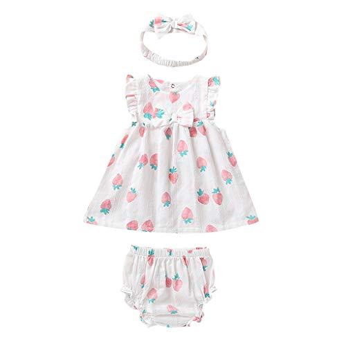0-24 meses niñas conjuntos de trajes de bebé niñas niños niñas con volantes impresión de frutas tops PP...