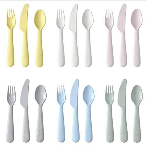 IKEA KALAS - Cubertería Infantil 18 piezas【SIN BPA】•【APTO PARA MICROONDAS Y LAVAVAJILLAS】Colores variados -...