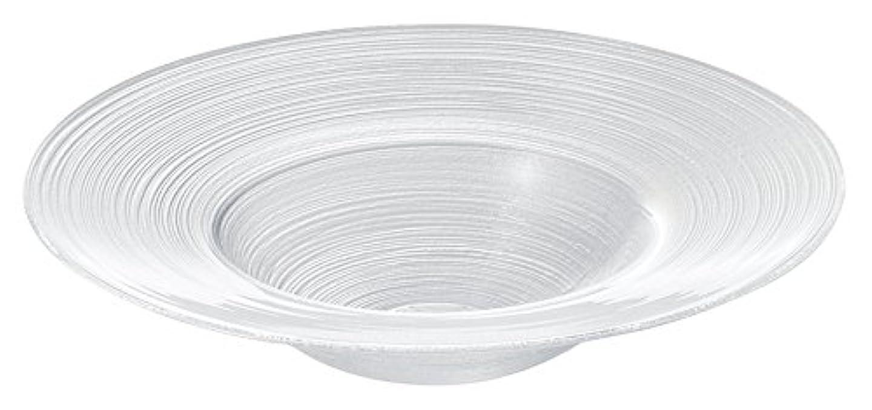 アルカイック句読点バンドル細いラインが美しいガラス食器イマージュ リムスープボール22.5cm