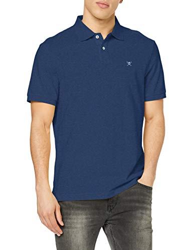 Hackett London Slim Fit Logo Camisa polo, 802optic White, L para Hombre