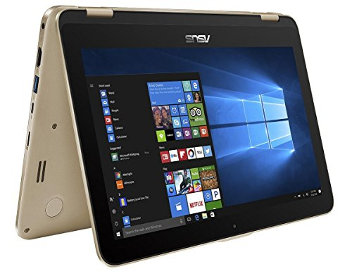 ASUS TP203NA-BP051T VivoBook Flip 11.6 Inch Touchscreen Notebook - (Shimmering Gold) (Intel N3350 Processor, 2 GB RAM, 32GB eMMC, Windows 10)