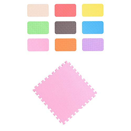 LXZFJW Azulejos de espuma de enclavamiento de espuma de bebé Estera de juego de espuma de enclavamiento de azulejos de espuma de rompecabezas de la estera-rosa 60×60×1.2cm 4pcs