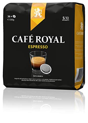 Café Royal Espresso 180 kompatible Kaffeepads für Senseo, Intesität 5/10, 4er Pack (4 x 36 Kaffee-Pads)