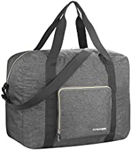 F.FETIVIN Personal item bag 18148 for Airlines Spirit Lightweight Carry on Luggage Sports Gym Water Resistant Nylon(Gray)