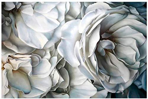 """Surfilter Print auf Leinwand Nordic White Rose Leinwand Malerei Wandkunst Poster und Drucke Bilder für Wohnzimmer Home Decoration 27.5"""" x 39,4""""(70x100cm) No Frame1"""