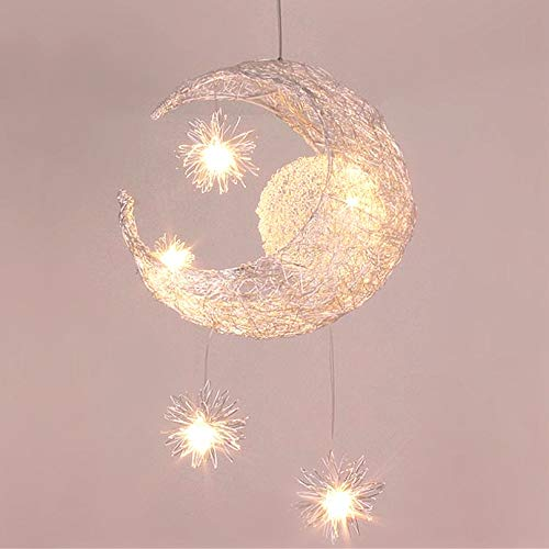 Lustre Suspension Industrielle Lune étoiles LED Plafonnier...