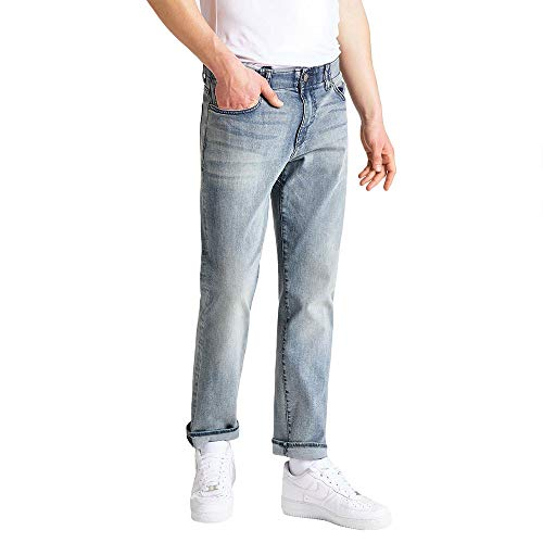Lee Extreme Motion Straight Jeans, Theo, 36W / 34L para Hombre