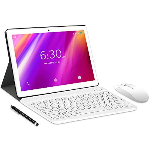 LNMBBS N10 Tablet 10' FHD, Octa-Core, 4G LTE Tablet Android 10.0, 4GB RAM, 64GB ROM, 1280 * 800 IPS, Tableta com Dual Camara, Dual/SIM/GPS/PTG/Bluetooth, (Gold)