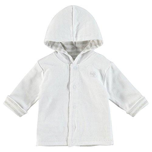 FEETJE Baby Veste réversible avec capuche Gris Uni/rayé (735)