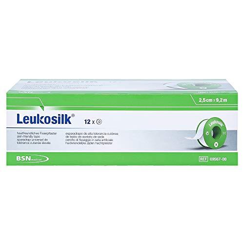 Leukosilk Set 12Pflaster Sensible Haut weiß