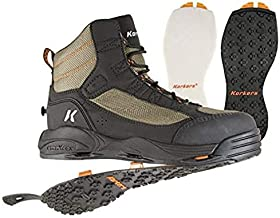 Korkers Greenback Wading Boots - Packed with The Essentials - Includes Interchangeable Felt and Kling-On Soles - Size 11