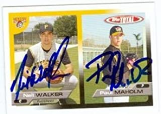 Paul Maholm Signed Baseball - Neil Walker card 2005 Topps Total Rookie Card - Autographed Baseball Cards