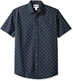 Amazon Essentials Men's Regular-Fit Short-Sleeve Print Shirt, Anchor, X-Large