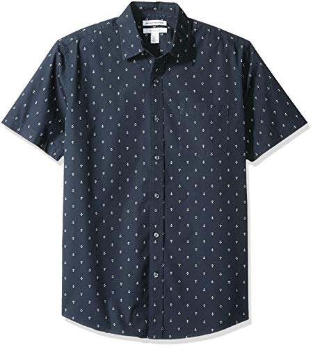 Amazon Essentials - Camiseta de manga corta con estampado para hombre, Anchor, US M (EU M)