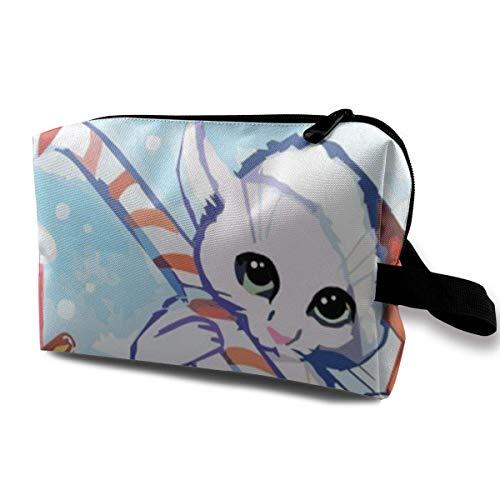 Hdadwy Die Katze wünscht Ihnen Alles Gute zur Weihnachtskarte Aquarell maßgeschneidert geeignet für Familien, Reise 4,9 'x 6,3' x 10,0 'Tragbare Reisetasche