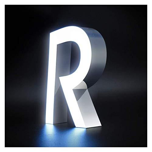 Letras iluminadas de 15x20cm con 4cm grosor de Metacrilato Liquido Frontal con Lateral Lacado con luz Frontal(Z0009YL). Personalizado (Z0009YL-1)