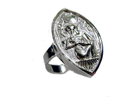 mr.goldis Amulett Ring 925 Silber Skarabäus Ankh Raa Isis Hyroglyphenring Bast Pharao