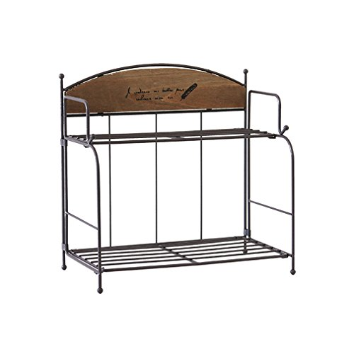 2 couche support de stockage de bureau de support de fer de pliage de support pour la chambre à coucher de cuisine de salle de bains (taille: 26 * 14 * 25cm) (Couleur : #2)