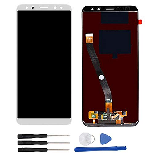 Soliocial Asamblea Pantalla LCD Pantalla Táctil Vidrio para Huawei Mate 10 Lite / G10 / G10 Plus RNE-L01 L02 L03 L21 L22 L23 Blanco