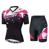 Souke Sports - Maillot de ciclismo para mujer, camiseta corta, camiseta de ciclismo de montaña, camiseta de manga corta, ropa de ciclismo para mujer. rojo XXL